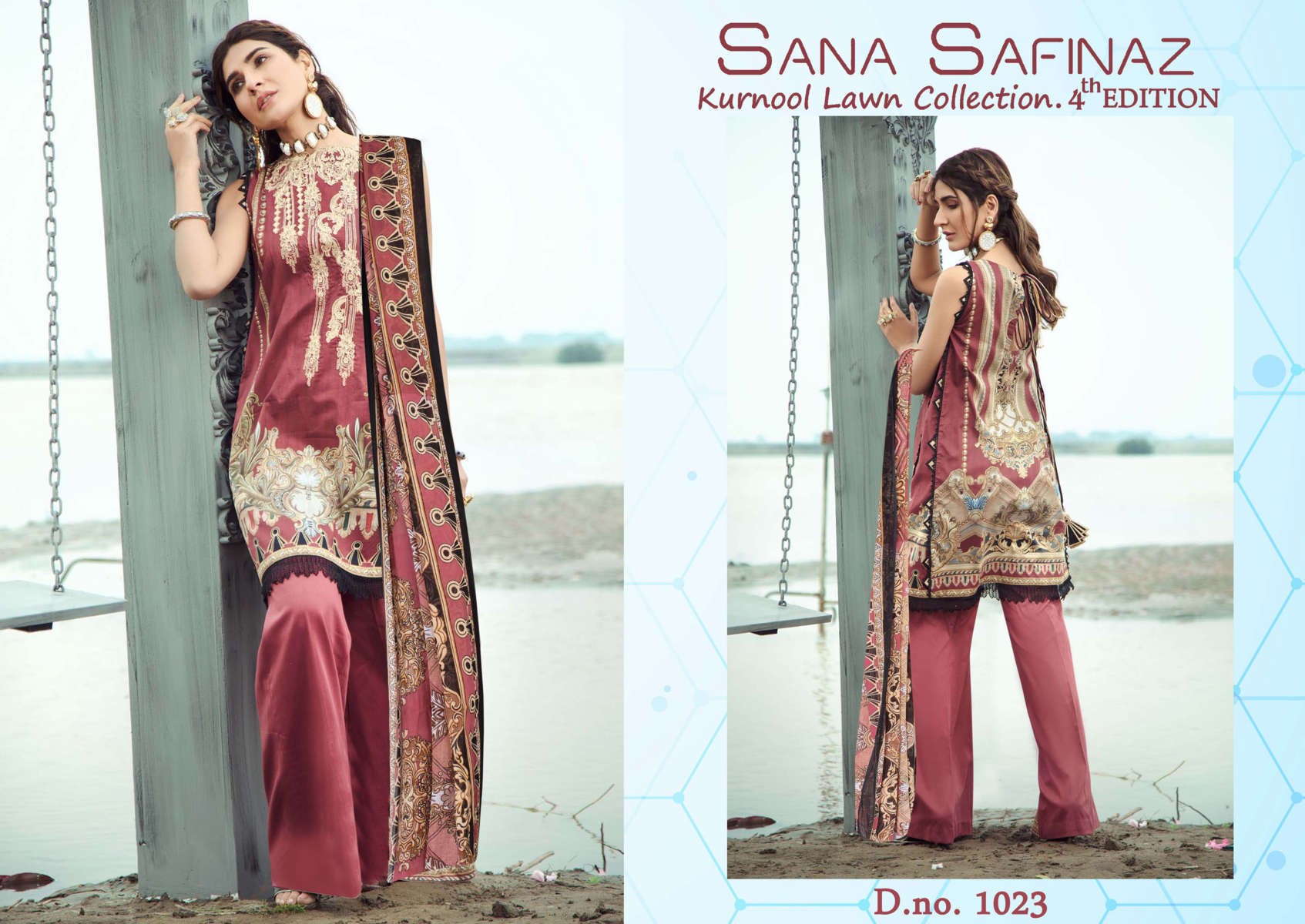 Sana Safinaz Kurnool Lawn Collection Vol 4 th Edition Salwar Suit Wholesale Catalog 4 Pcs 1 - Sana Safinaz Kurnool Lawn Collection Vol 4 th Edition Salwar Suit Wholesale Catalog 4 Pcs