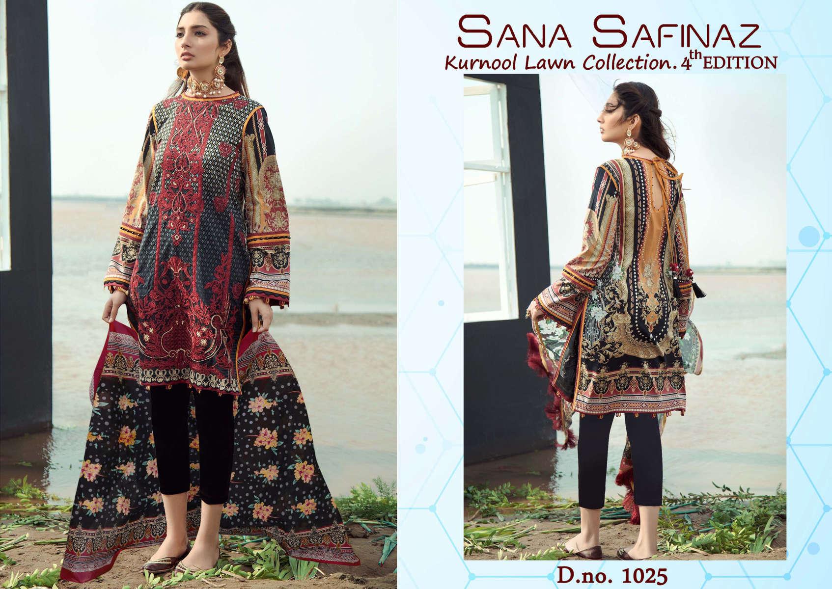Sana Safinaz Kurnool Lawn Collection Vol 4 th Edition Salwar Suit Wholesale Catalog 4 Pcs 3 - Sana Safinaz Kurnool Lawn Collection Vol 4 th Edition Salwar Suit Wholesale Catalog 4 Pcs