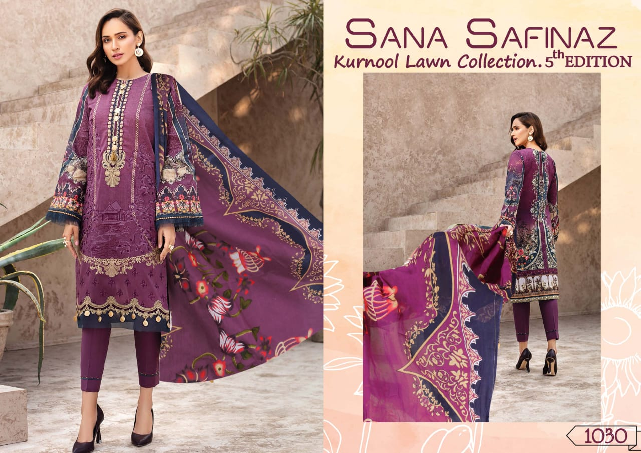 Sana Safinaz Kurnool Lawn Collection Vol 5 th Edition Salwar Suit Wholesale Catalog 4 Pcs 1 - Sana Safinaz Kurnool Lawn Collection Vol 5 th Edition Salwar Suit Wholesale Catalog 4 Pcs