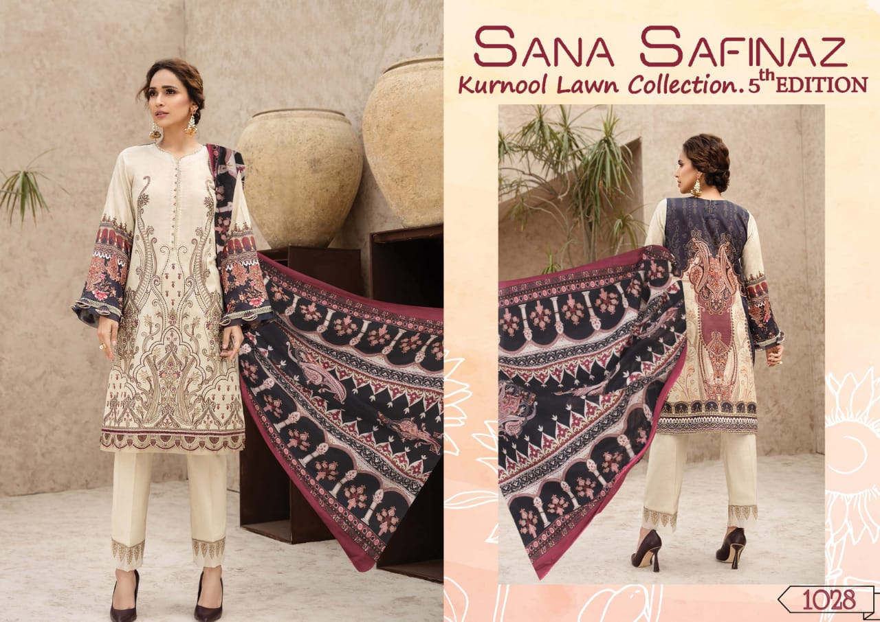 Sana Safinaz Kurnool Lawn Collection Vol 5 th Edition Salwar Suit Wholesale Catalog 4 Pcs 3 - Sana Safinaz Kurnool Lawn Collection Vol 5 th Edition Salwar Suit Wholesale Catalog 4 Pcs