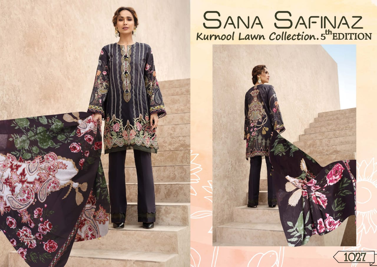 Sana Safinaz Kurnool Lawn Collection Vol 5 th Edition Salwar Suit Wholesale Catalog 4 Pcs 4 - Sana Safinaz Kurnool Lawn Collection Vol 5 th Edition Salwar Suit Wholesale Catalog 4 Pcs
