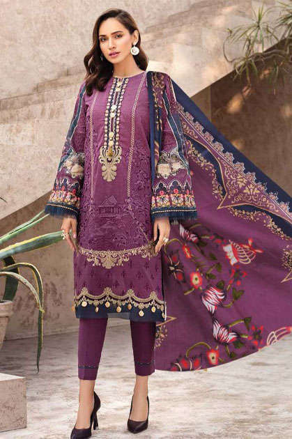 Sana Safinaz Kurnool Lawn Collection Vol 5 th Edition Salwar Suit Wholesale Catalog 4 Pcs