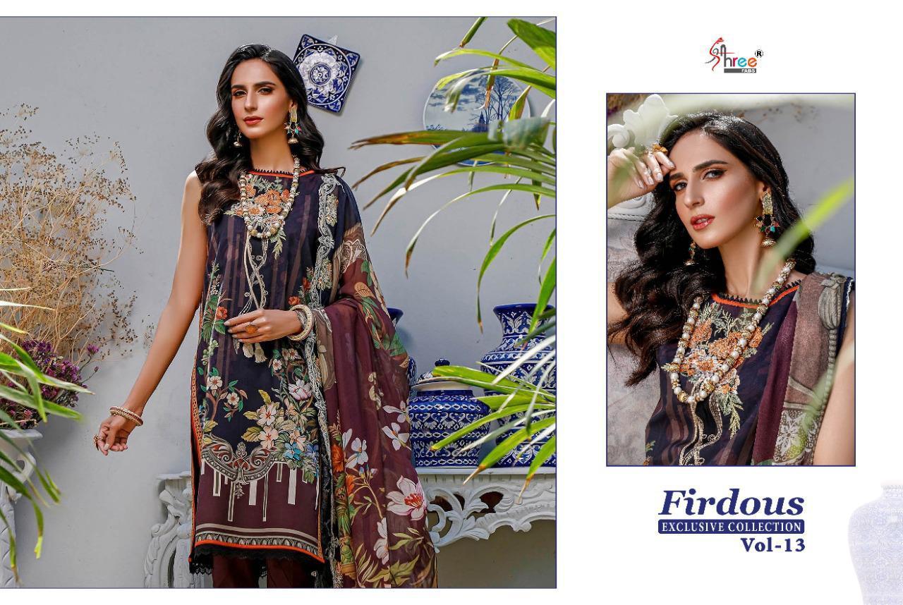 Shree Fabs Firdous Exclusive Collection Vol 13 Salwar Suit Wholesale Catalog 9 Pcs 10 - Shree Fabs Firdous Exclusive Collection Vol 13 Salwar Suit Wholesale Catalog 9 Pcs