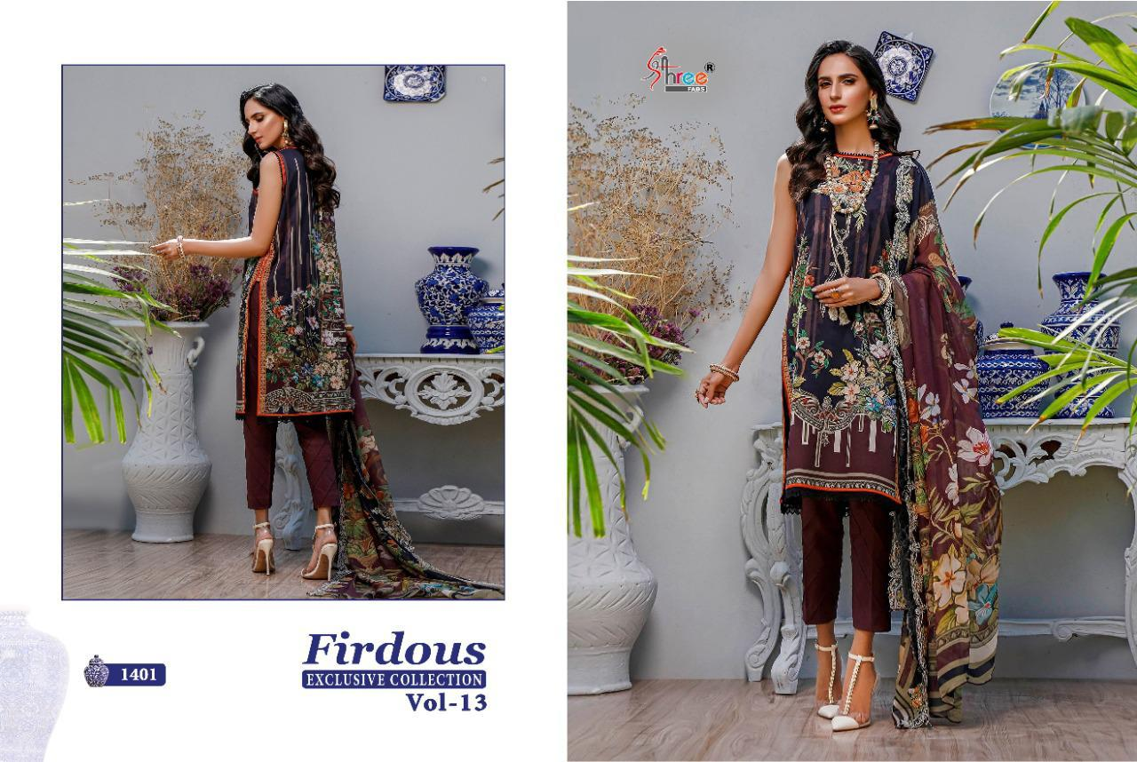 Shree Fabs Firdous Exclusive Collection Vol 13 Salwar Suit Wholesale Catalog 9 Pcs 14 - Shree Fabs Firdous Exclusive Collection Vol 13 Salwar Suit Wholesale Catalog 9 Pcs