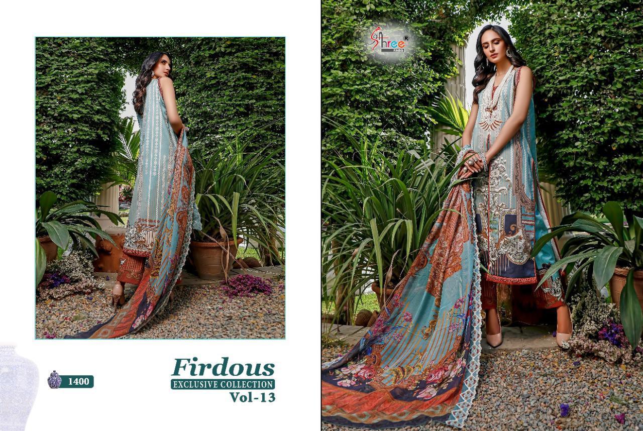 Shree Fabs Firdous Exclusive Collection Vol 13 Salwar Suit Wholesale Catalog 9 Pcs 15 - Shree Fabs Firdous Exclusive Collection Vol 13 Salwar Suit Wholesale Catalog 9 Pcs