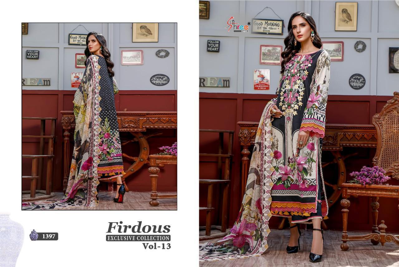 Shree Fabs Firdous Exclusive Collection Vol 13 Salwar Suit Wholesale Catalog 9 Pcs 2 - Shree Fabs Firdous Exclusive Collection Vol 13 Salwar Suit Wholesale Catalog 9 Pcs