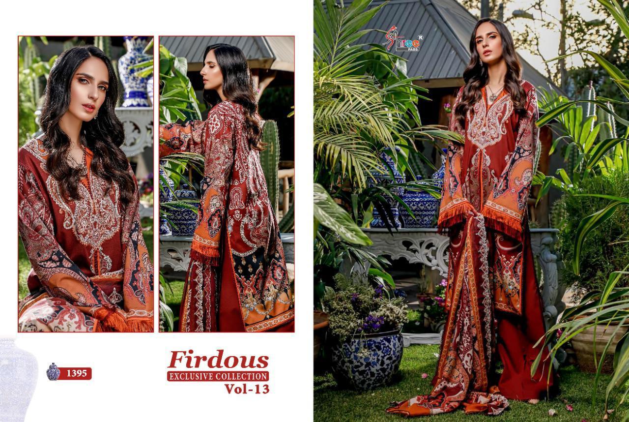 Shree Fabs Firdous Exclusive Collection Vol 13 Salwar Suit Wholesale Catalog 9 Pcs 5 - Shree Fabs Firdous Exclusive Collection Vol 13 Salwar Suit Wholesale Catalog 9 Pcs