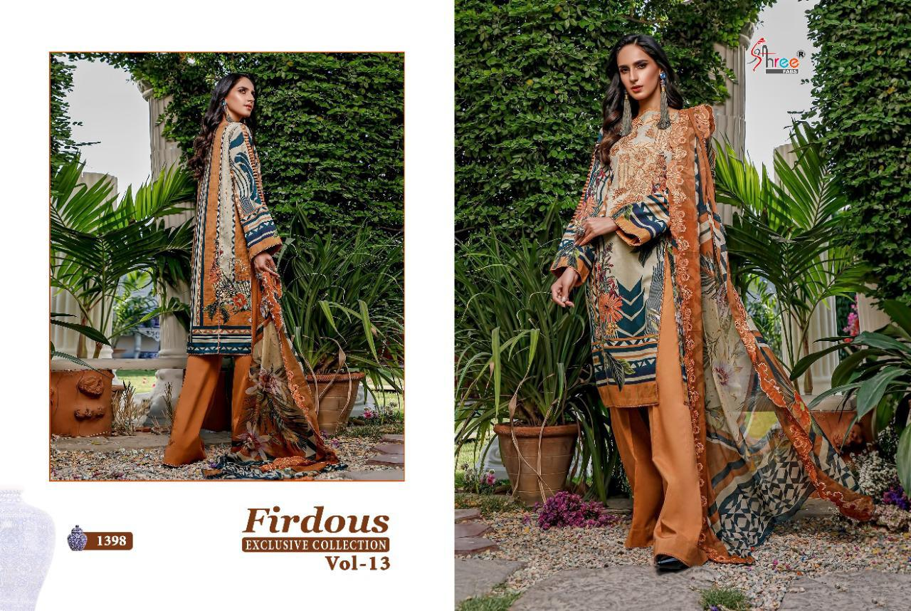 Shree Fabs Firdous Exclusive Collection Vol 13 Salwar Suit Wholesale Catalog 9 Pcs 6 - Shree Fabs Firdous Exclusive Collection Vol 13 Salwar Suit Wholesale Catalog 9 Pcs