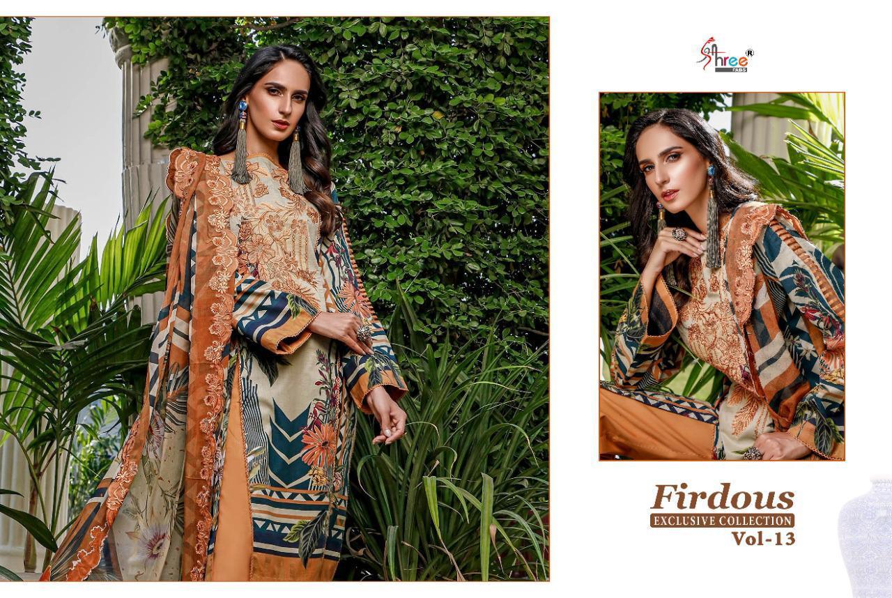 Shree Fabs Firdous Exclusive Collection Vol 13 Salwar Suit Wholesale Catalog 9 Pcs 8 - Shree Fabs Firdous Exclusive Collection Vol 13 Salwar Suit Wholesale Catalog 9 Pcs