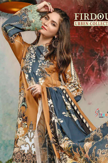 Shree Fabs Firdous Urben Collection Salwar Suit Wholesale Catalog 10 Pcs