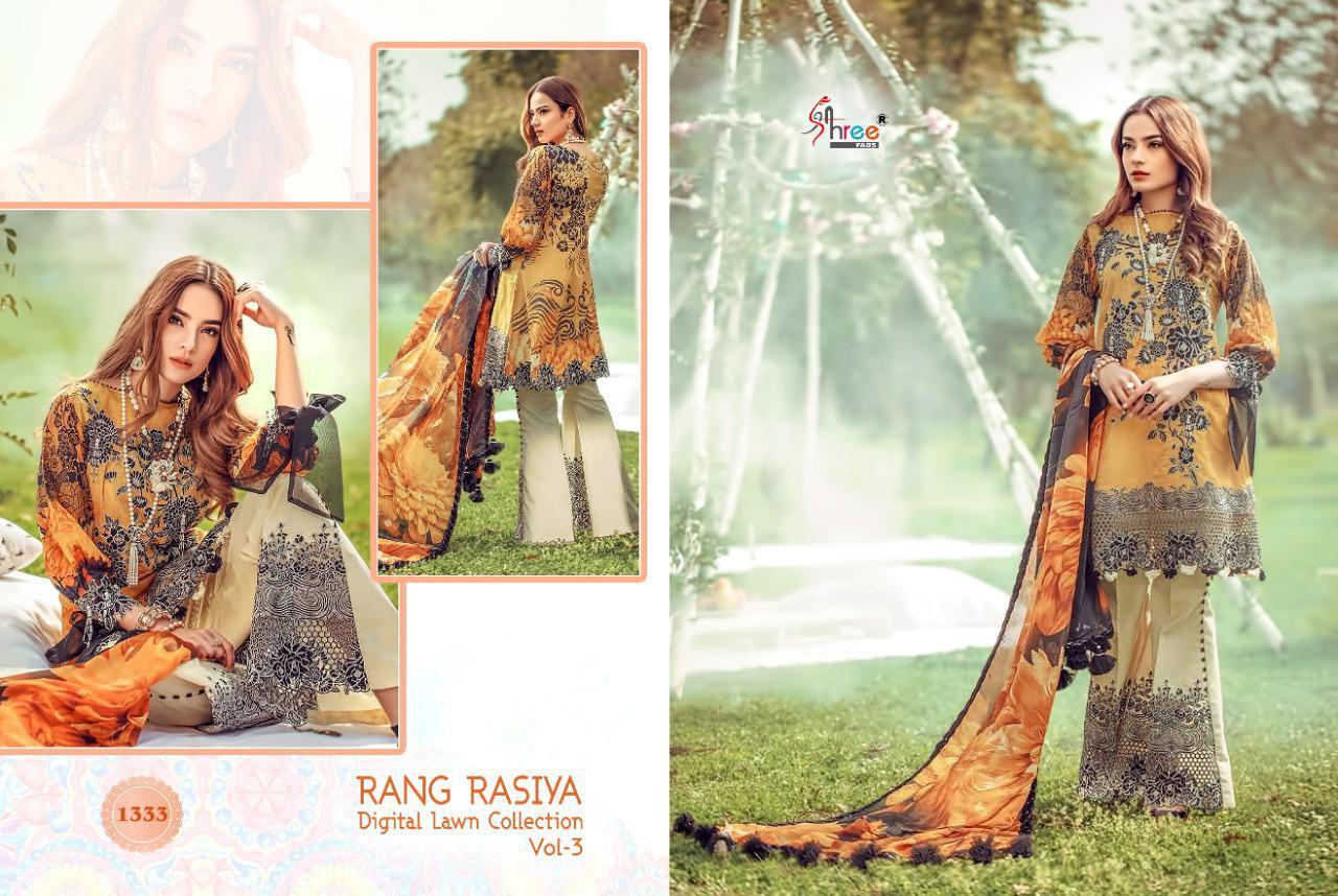 Shree Fabs Rang Rasiya Digital Lawn Collection Vol 3 Salwar Suit Wholesale Catalog 7 Pcs 11 - Shree Fabs Rang Rasiya Digital Lawn Collection Vol 3 Salwar Suit Wholesale Catalog 7 Pcs