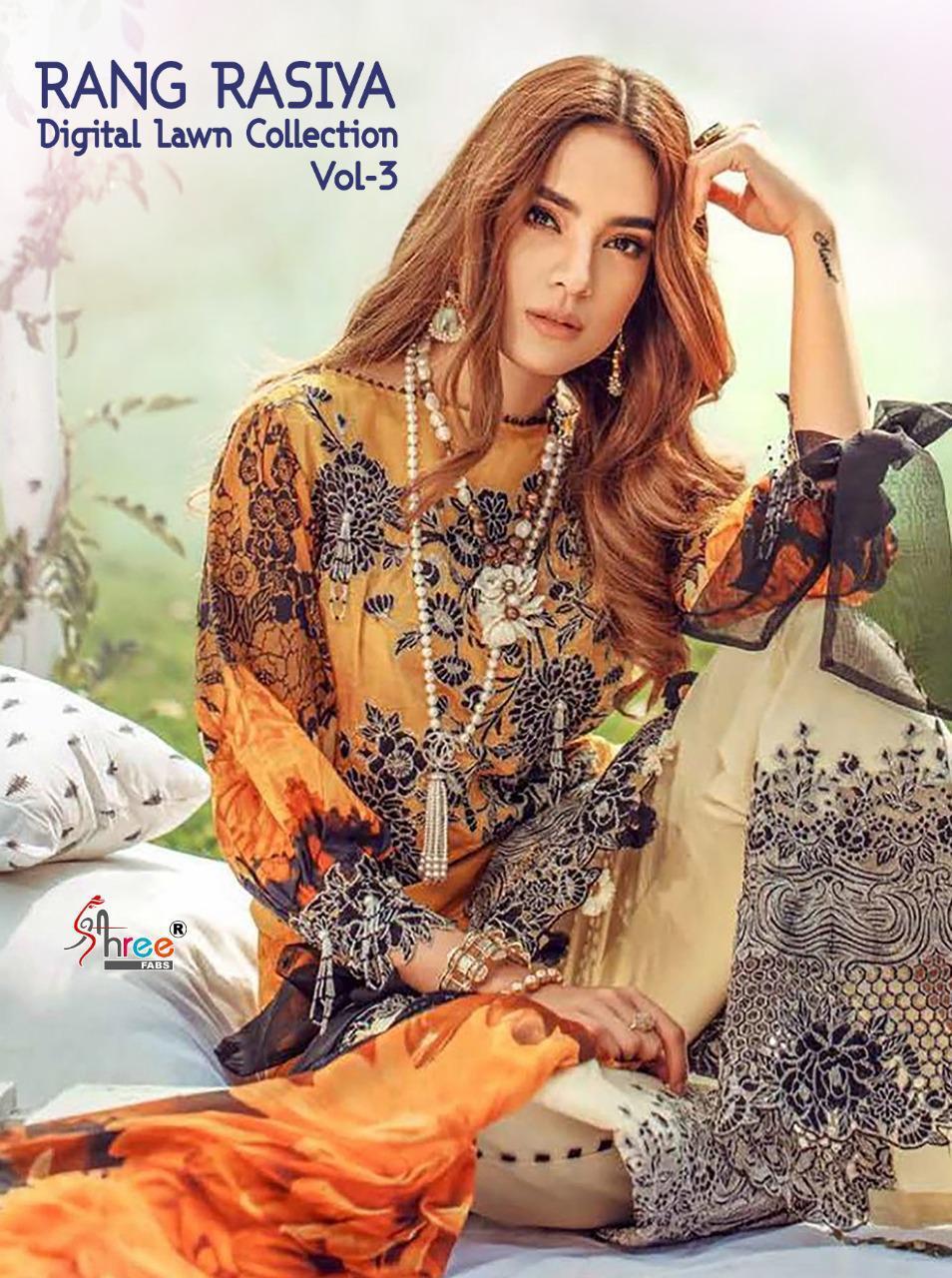 Shree Fabs Rang Rasiya Digital Lawn Collection Vol 3 Salwar Suit Wholesale Catalog 7 Pcs 2 - Shree Fabs Rang Rasiya Digital Lawn Collection Vol 3 Salwar Suit Wholesale Catalog 7 Pcs
