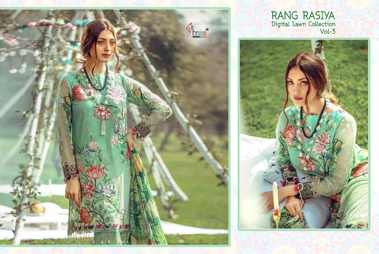 Shree Fabs Rang Rasiya Digital Lawn Collection Vol 3 Salwar Suit Wholesale Catalog 7 Pcs 5 - Shree Fabs Rang Rasiya Digital Lawn Collection Vol 3 Salwar Suit Wholesale Catalog 7 Pcs