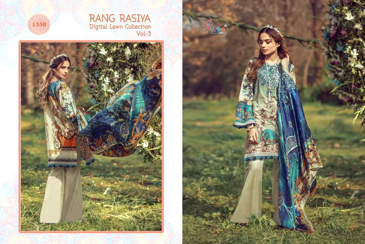 Shree Fabs Rang Rasiya Digital Lawn Collection Vol 3 Salwar Suit Wholesale Catalog 7 Pcs 8 - Shree Fabs Rang Rasiya Digital Lawn Collection Vol 3 Salwar Suit Wholesale Catalog 7 Pcs