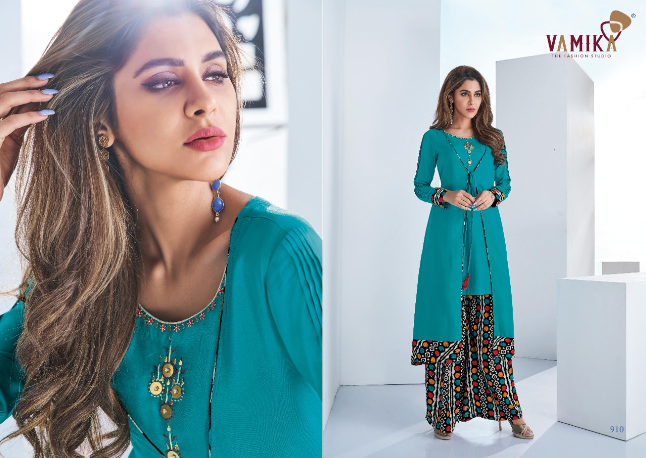 Vamika Plazo Vol 3 Kurti with Palazzo Wholesale Catalog 7 Pcs 1 - Vamika Plazo Vol 3 Kurti with Palazzo Wholesale Catalog 7 Pcs