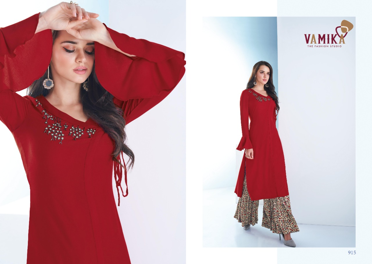 Vamika Plazo Vol 3 Kurti with Palazzo Wholesale Catalog 7 Pcs 11 - Vamika Plazo Vol 3 Kurti with Palazzo Wholesale Catalog 7 Pcs