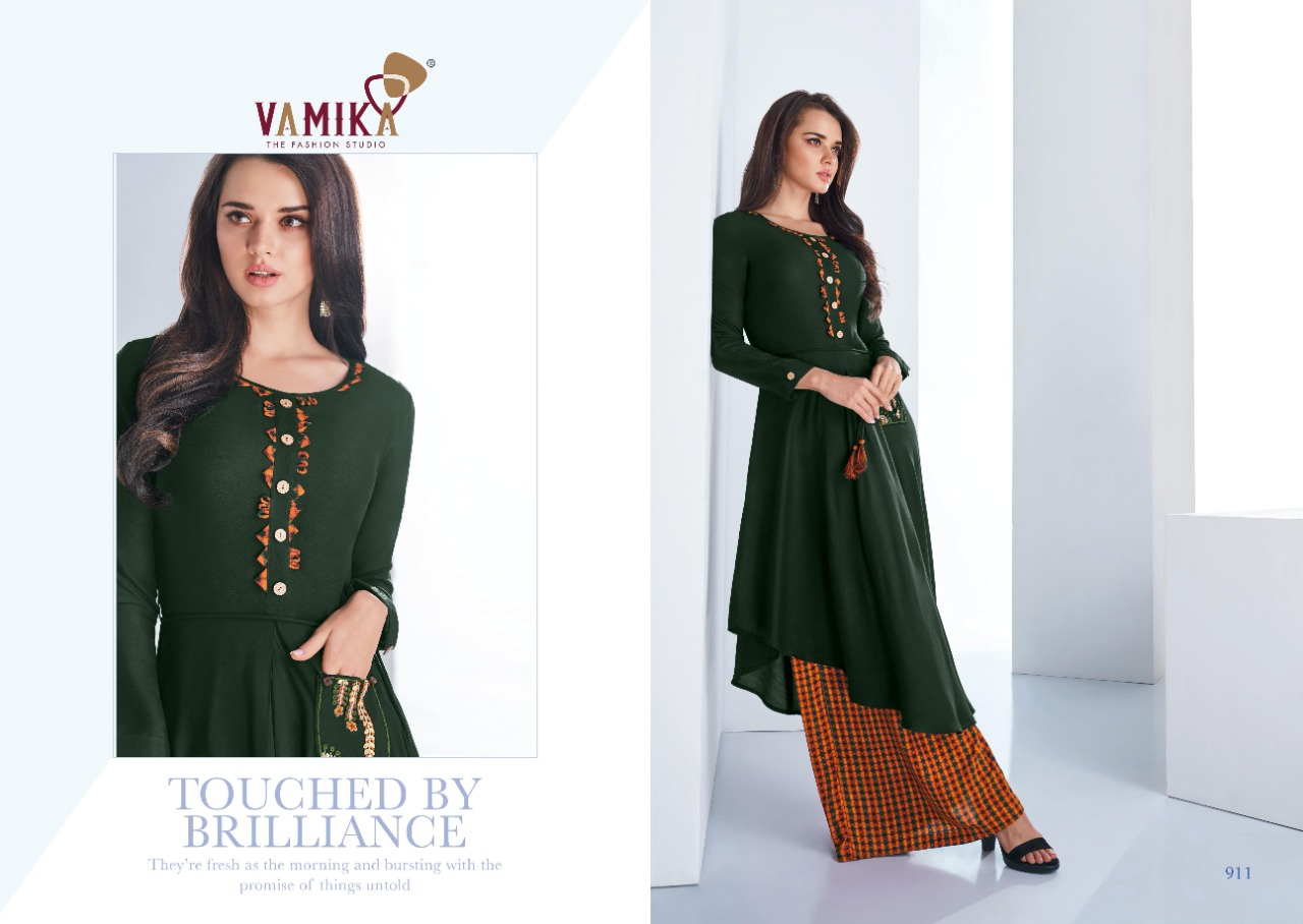 Vamika Plazo Vol 3 Kurti with Palazzo Wholesale Catalog 7 Pcs 2 - Vamika Plazo Vol 3 Kurti with Palazzo Wholesale Catalog 7 Pcs