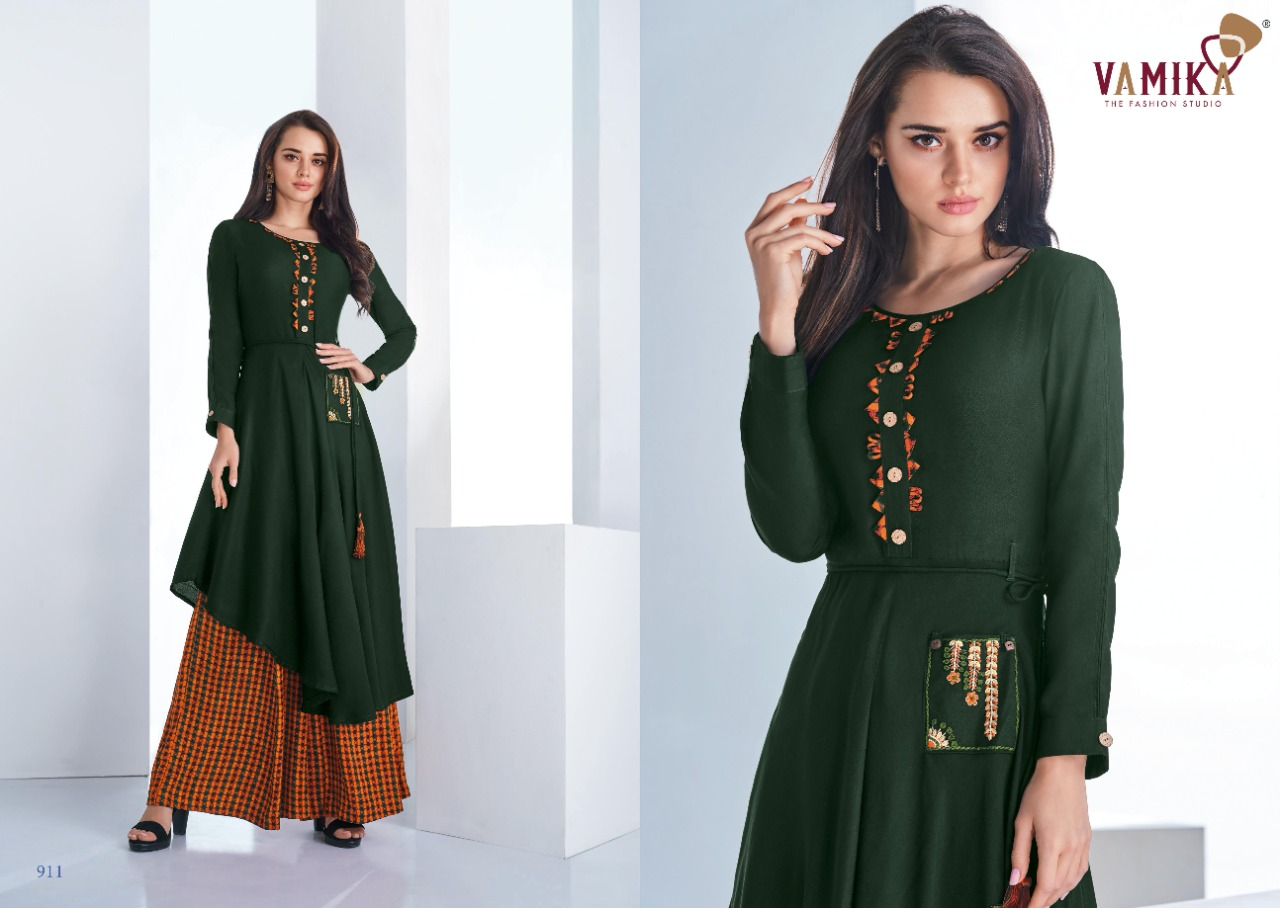 Vamika Plazo Vol 3 Kurti with Palazzo Wholesale Catalog 7 Pcs 5 - Vamika Plazo Vol 3 Kurti with Palazzo Wholesale Catalog 7 Pcs
