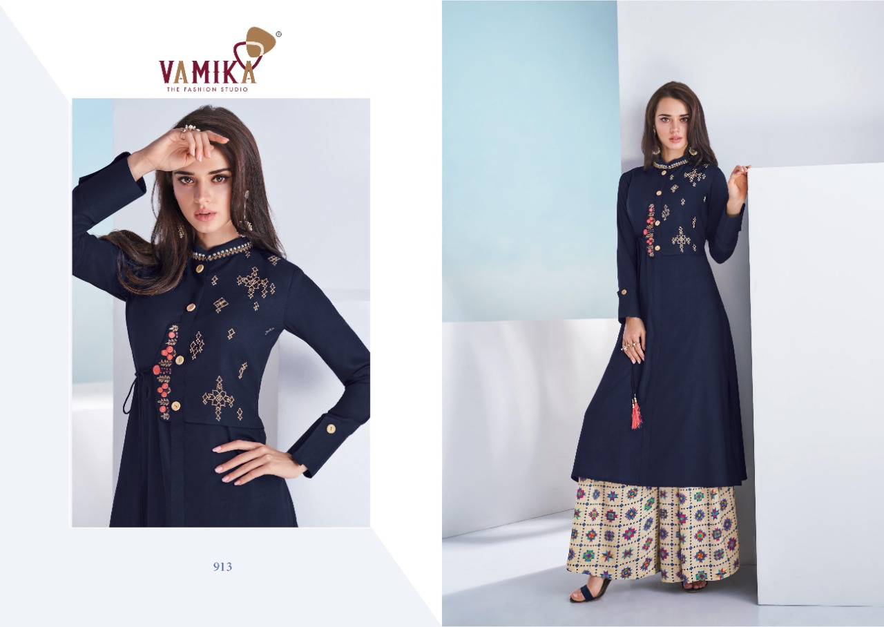 Vamika Plazo Vol 3 Kurti with Palazzo Wholesale Catalog 7 Pcs 6 - Vamika Plazo Vol 3 Kurti with Palazzo Wholesale Catalog 7 Pcs