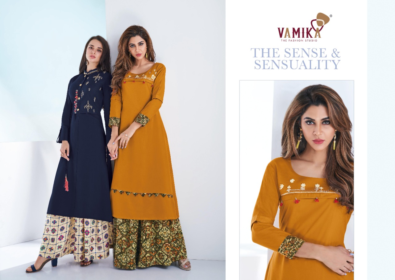 Vamika Plazo Vol 3 Kurti with Palazzo Wholesale Catalog 7 Pcs 8 - Vamika Plazo Vol 3 Kurti with Palazzo Wholesale Catalog 7 Pcs