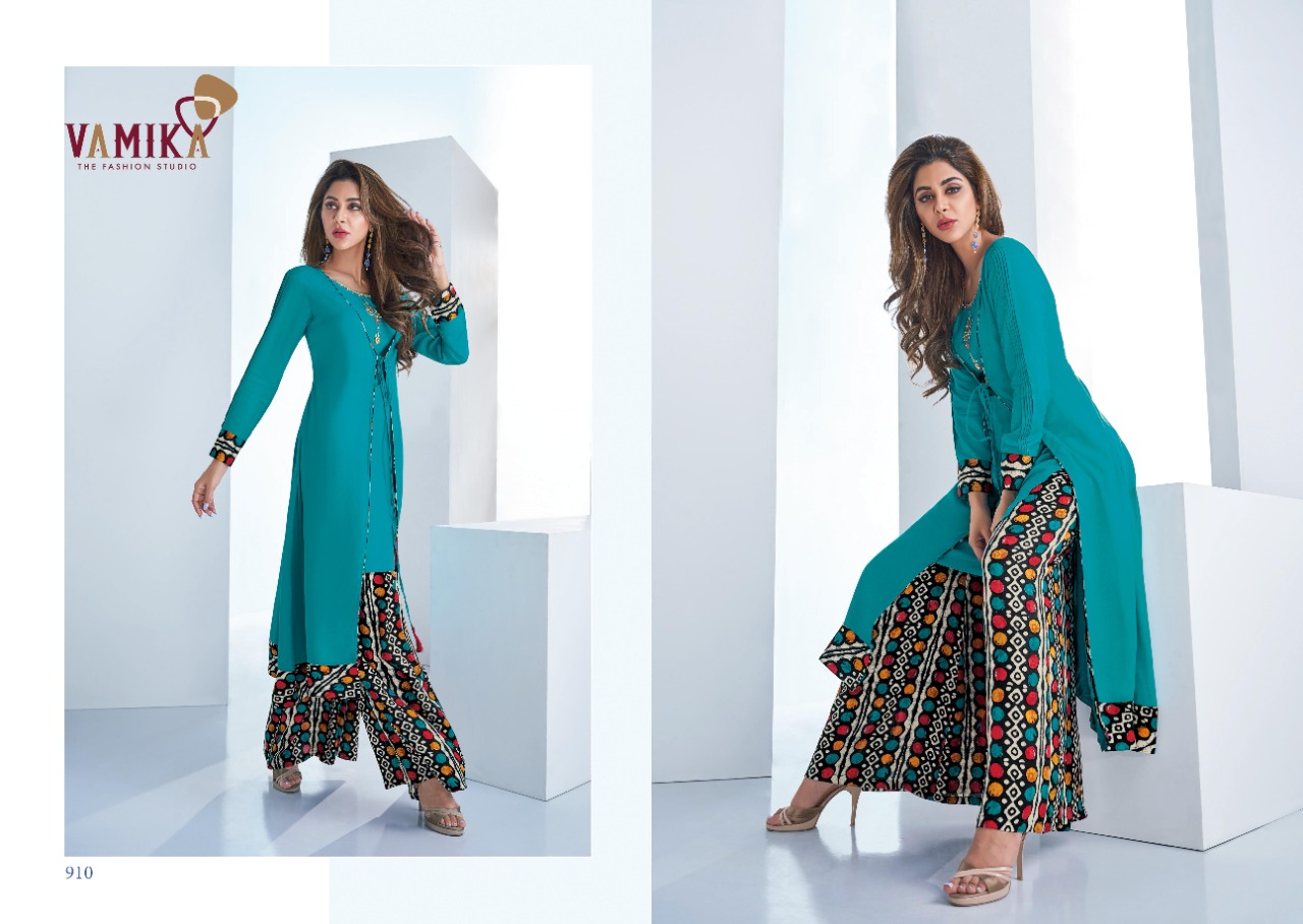 Vamika Plazo Vol 3 Kurti with Palazzo Wholesale Catalog 7 Pcs 9 - Vamika Plazo Vol 3 Kurti with Palazzo Wholesale Catalog 7 Pcs