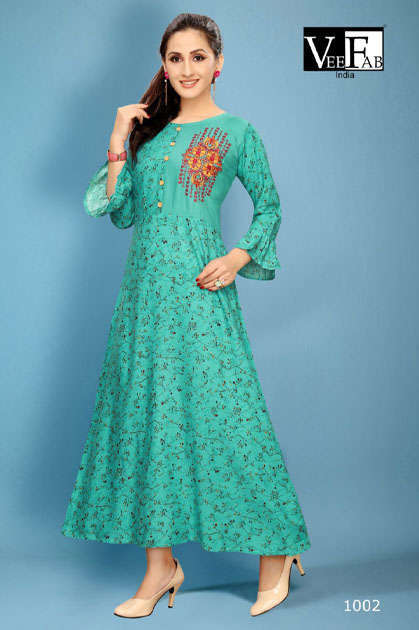 Vee Fab Fabulous Kurti Wholesale Catalog 5 Pcs