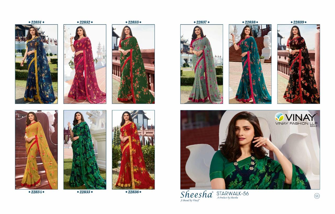 Vinay Sheesha Starwalk Vol 56 Digital Prachi Desai Saree Sari Wholesale Catalog 9 Pcs 15 - Vinay Sheesha Starwalk Vol 56 Prachi Desai Saree Sari Wholesale Catalog 9 Pcs