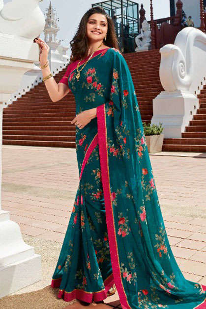 Vinay Sheesha Starwalk Vol 56 Prachi Desai Saree Sari Wholesale Catalog 9 Pcs