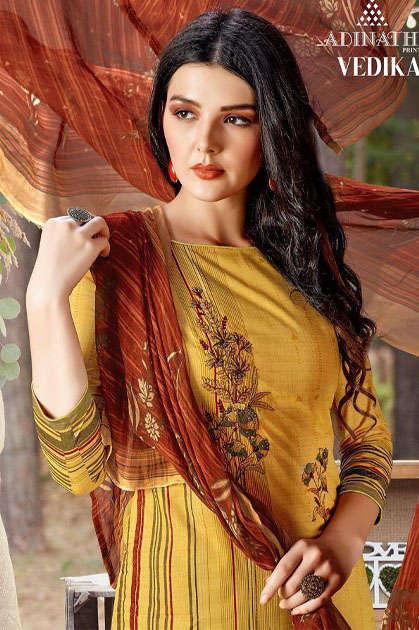 Adinath Vedika Pashmina Salwar Suit Wholesale Catalog 10 Pcs