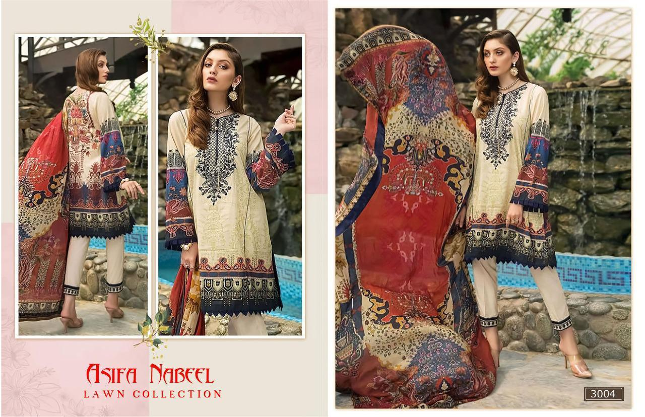 Asifa Nabeel Vol 3 lawn collection Salwar Suit Wholesale Catalog 6 Pcs 1 - Asifa Nabeel Vol 3 Lawn Collection Salwar Suit Wholesale Catalog 6 Pcs