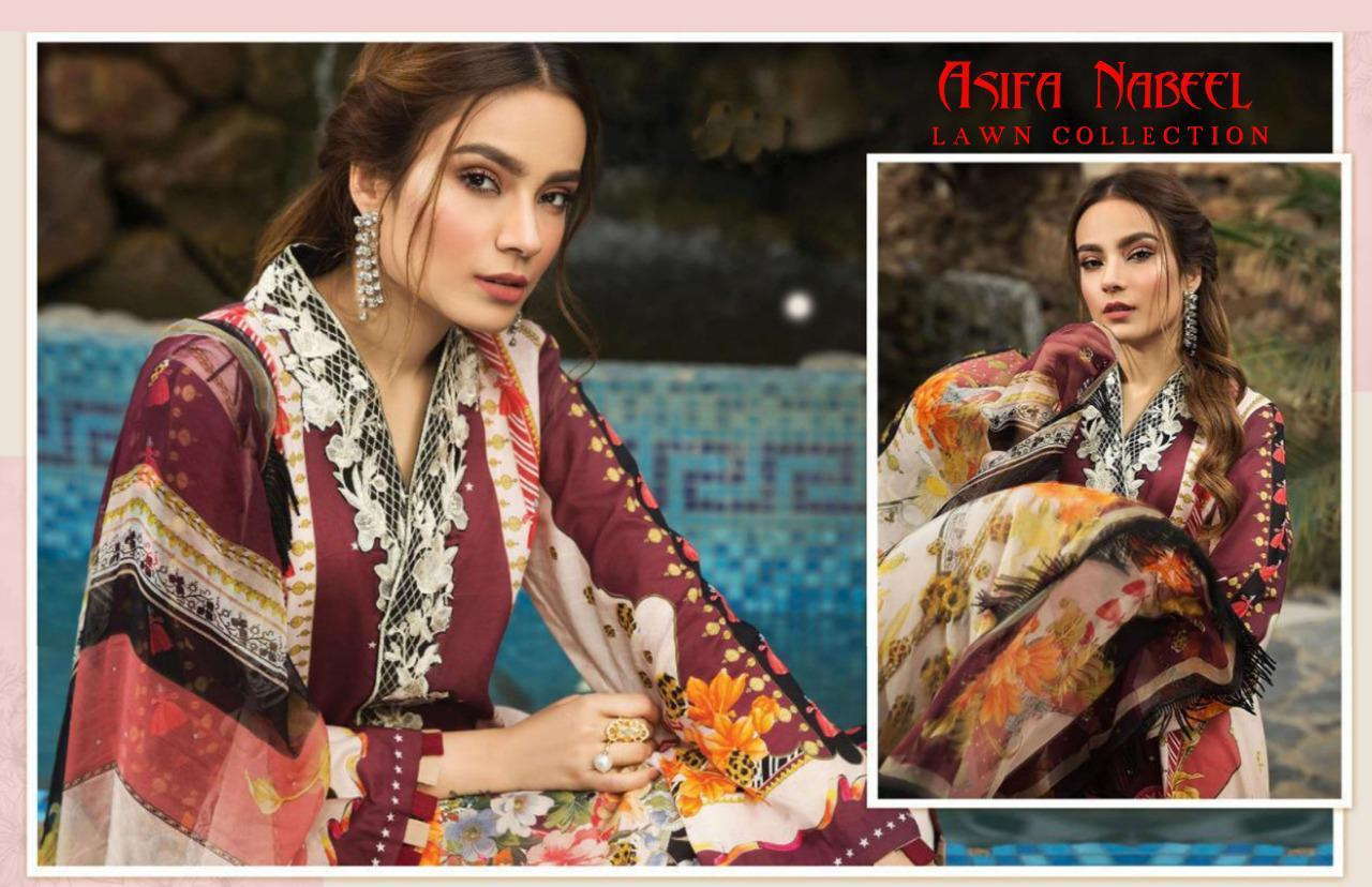 Asifa Nabeel Vol 3 lawn collection Salwar Suit Wholesale Catalog 6 Pcs 18 - Asifa Nabeel Vol 3 Lawn Collection Salwar Suit Wholesale Catalog 6 Pcs