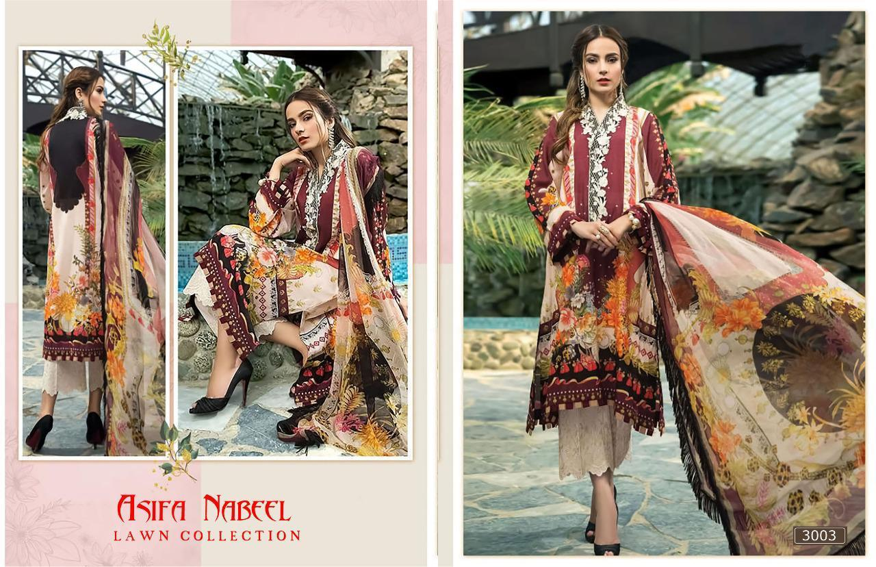 Asifa Nabeel Vol 3 lawn collection Salwar Suit Wholesale Catalog 6 Pcs 20 - Asifa Nabeel Vol 3 Lawn Collection Salwar Suit Wholesale Catalog 6 Pcs