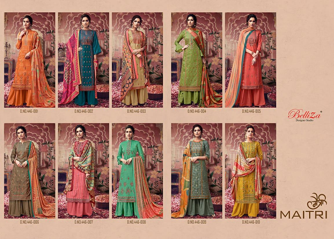 Belliza Maitri Salwar Suit Wholesale Catalog 10 Pcs 14 - Belliza Maitri Salwar Suit Wholesale Catalog 10 Pcs