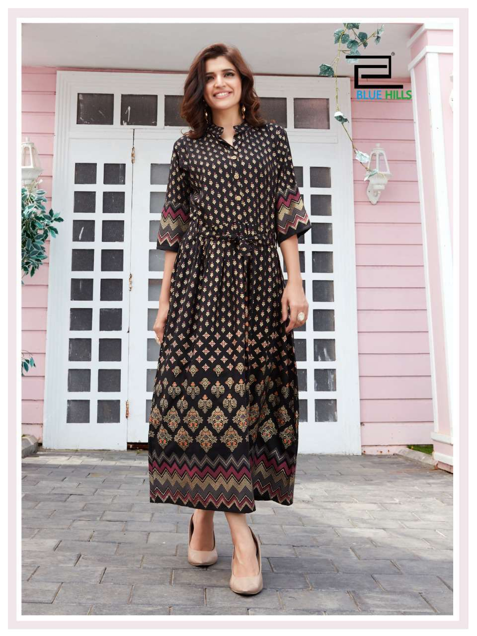 Blue Hills Royal Touch Kurti Wholesale Catalog 4 Pcs 1 - Blue Hills Royal Touch Kurti Wholesale Catalog 4 Pcs