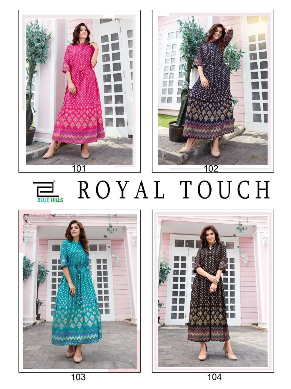 Blue Hills Royal Touch Kurti Wholesale Catalog 4 Pcs 11 - Blue Hills Royal Touch Kurti Wholesale Catalog 4 Pcs
