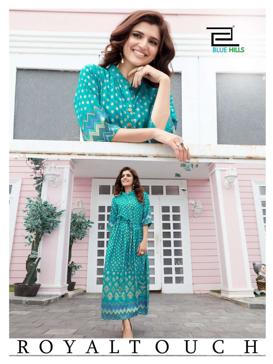 Blue Hills Royal Touch Kurti Wholesale Catalog 4 Pcs 2 - Blue Hills Royal Touch Kurti Wholesale Catalog 4 Pcs