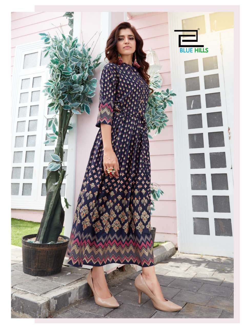 Blue Hills Royal Touch Kurti Wholesale Catalog 4 Pcs 3 - Blue Hills Royal Touch Kurti Wholesale Catalog 4 Pcs