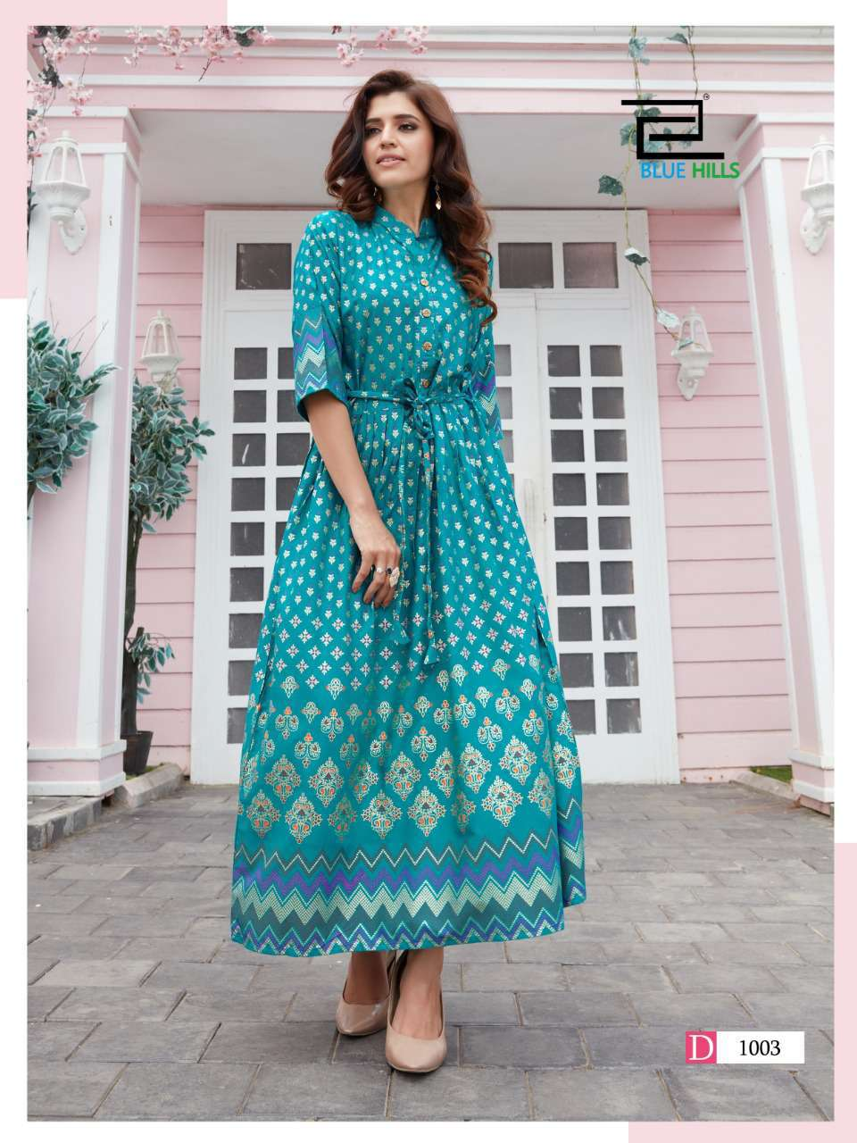 Blue Hills Royal Touch Kurti Wholesale Catalog 4 Pcs 4 - Blue Hills Royal Touch Kurti Wholesale Catalog 4 Pcs