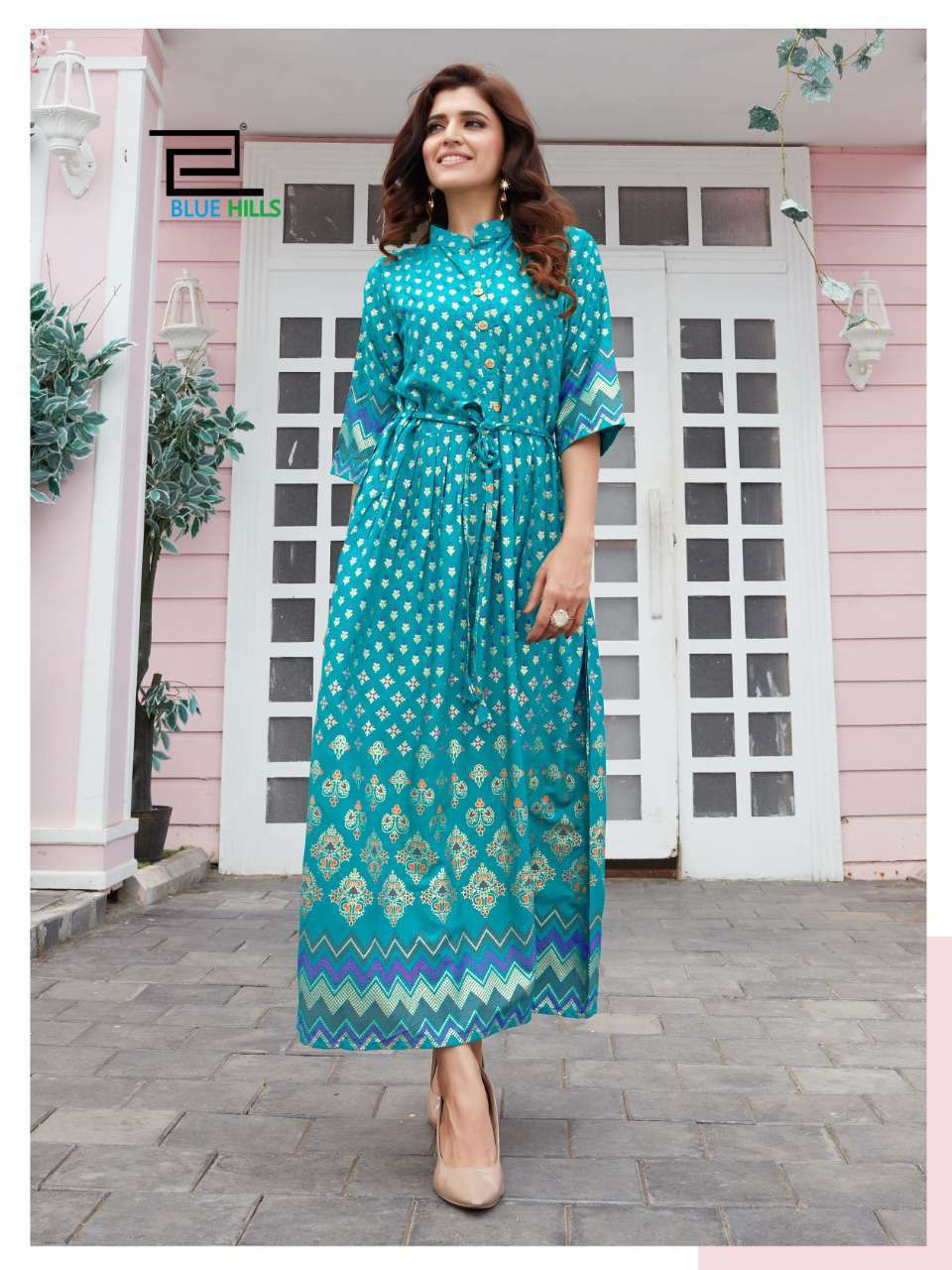 Blue Hills Royal Touch Kurti Wholesale Catalog 4 Pcs 9 - Blue Hills Royal Touch Kurti Wholesale Catalog 4 Pcs