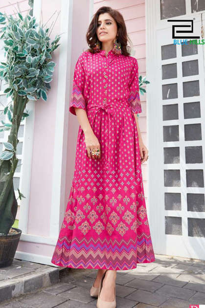 Blue Hills Royal Touch Kurti Wholesale Catalog 4 Pcs
