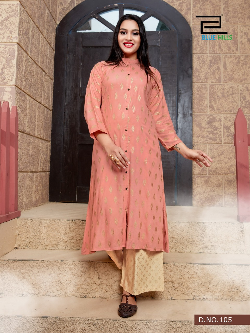 Blue Hills Style In Vol 3 Kurti with Palazzo Wholesale Catalog 5 Pcs 2 1 - Blue Hills Style In Vol 3 Kurti with Palazzo Wholesale Catalog 5 Pcs