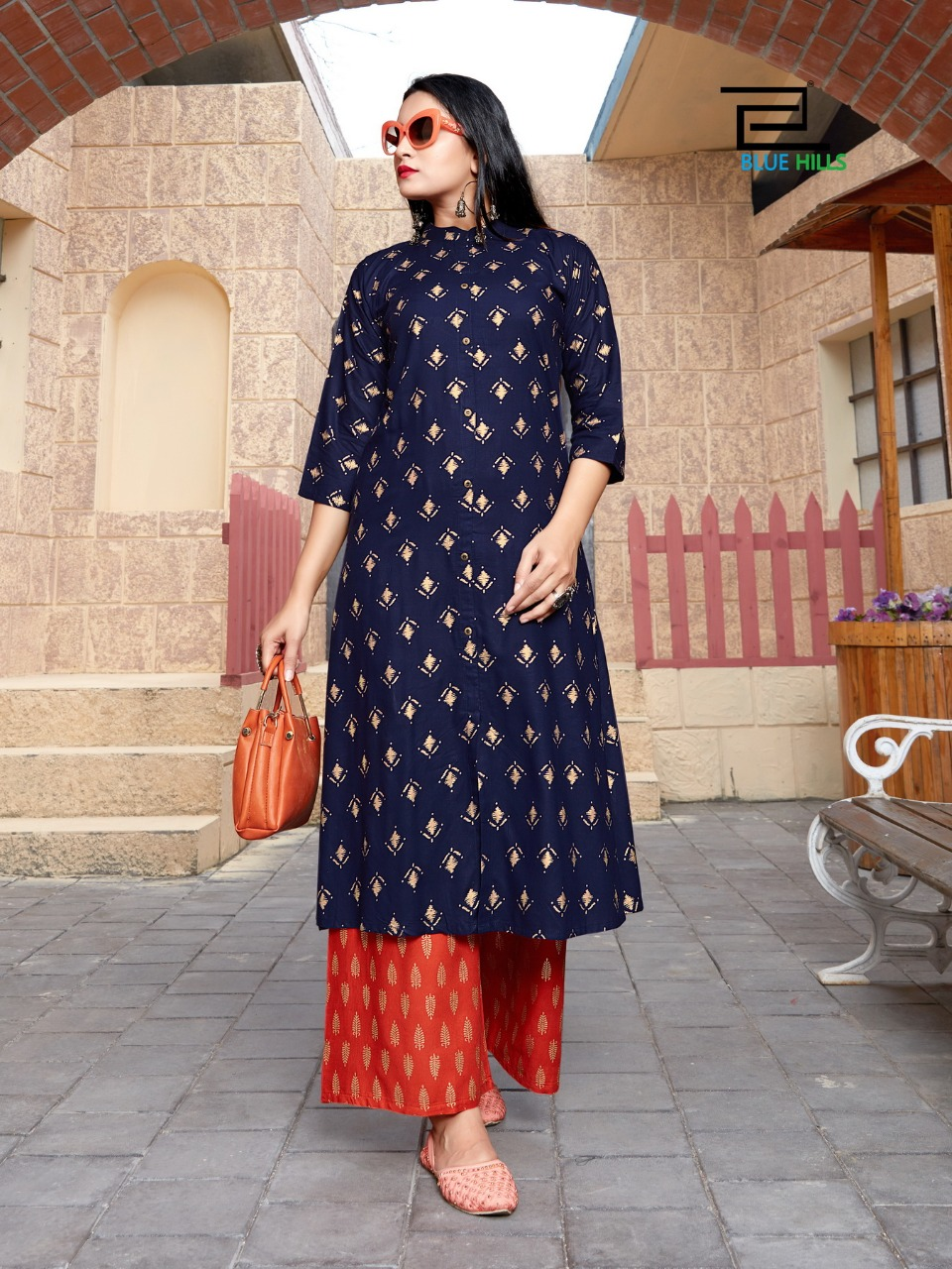 Blue Hills Style In Vol 3 Kurti with Palazzo Wholesale Catalog 5 Pcs 5 1 - Blue Hills Style In Vol 3 Kurti with Palazzo Wholesale Catalog 5 Pcs