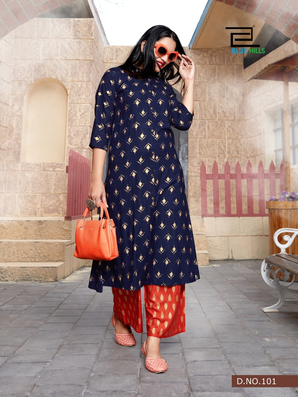 Blue Hills Style In Vol 3 Kurti with Palazzo Wholesale Catalog 5 Pcs 7 1 - Blue Hills Style In Vol 3 Kurti with Palazzo Wholesale Catalog 5 Pcs