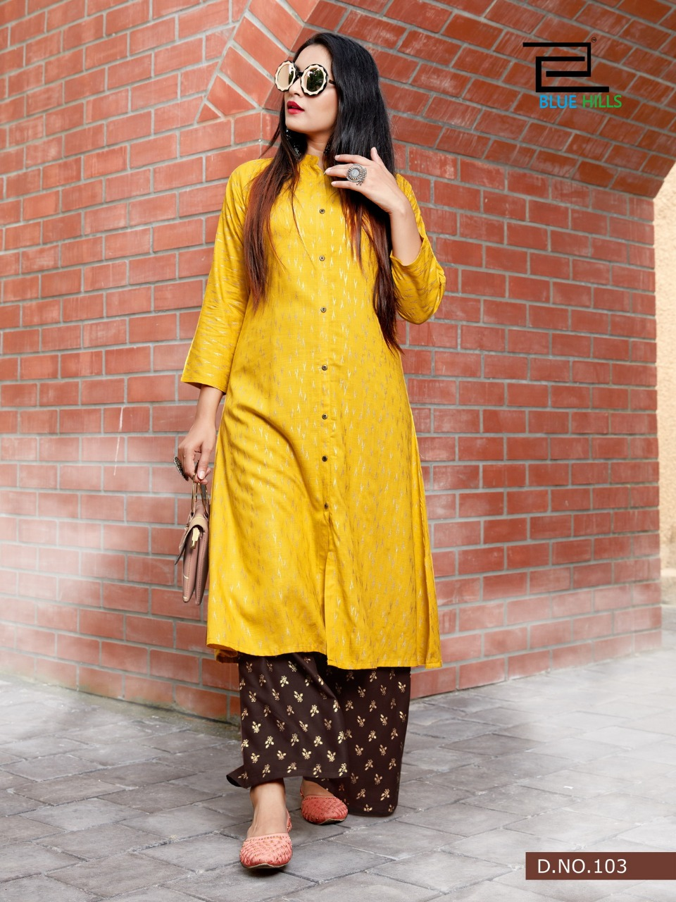 Blue Hills Style In Vol 3 Kurti with Palazzo Wholesale Catalog 5 Pcs 8 1 - Blue Hills Style In Vol 3 Kurti with Palazzo Wholesale Catalog 5 Pcs