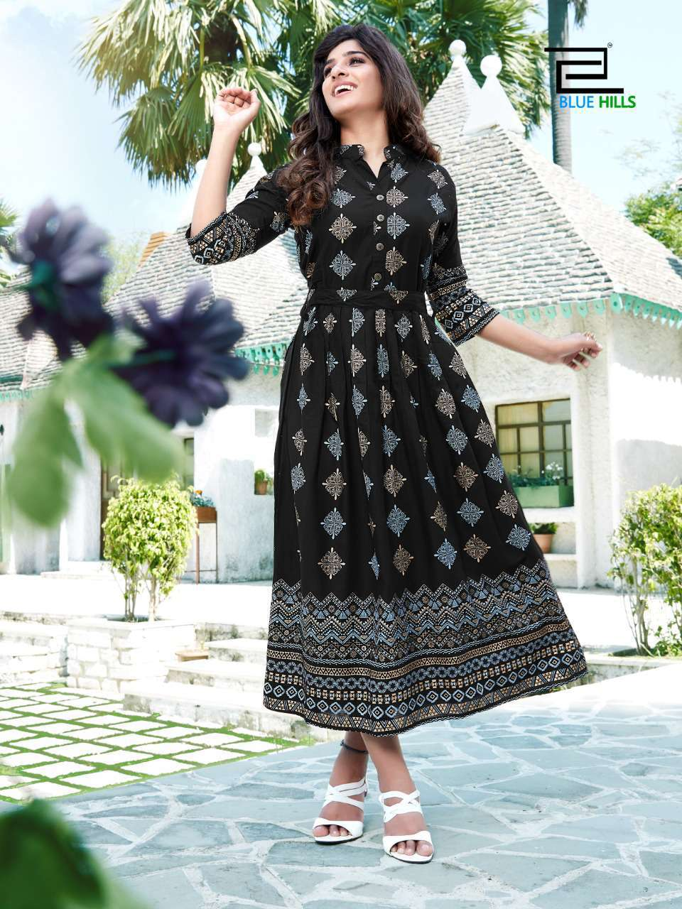 Blue Hills V Desi Kurti Wholesale Catalog 6 Pcs 10 - Blue Hills V Desi Kurti Wholesale Catalog 6 Pcs