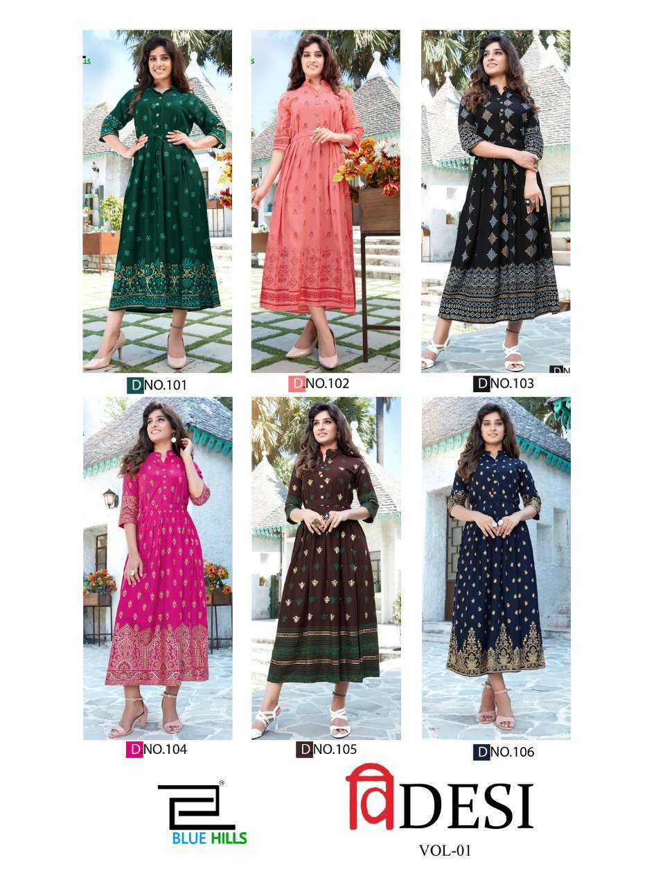 Blue Hills V Desi Kurti Wholesale Catalog 6 Pcs 12 - Blue Hills V Desi Kurti Wholesale Catalog 6 Pcs