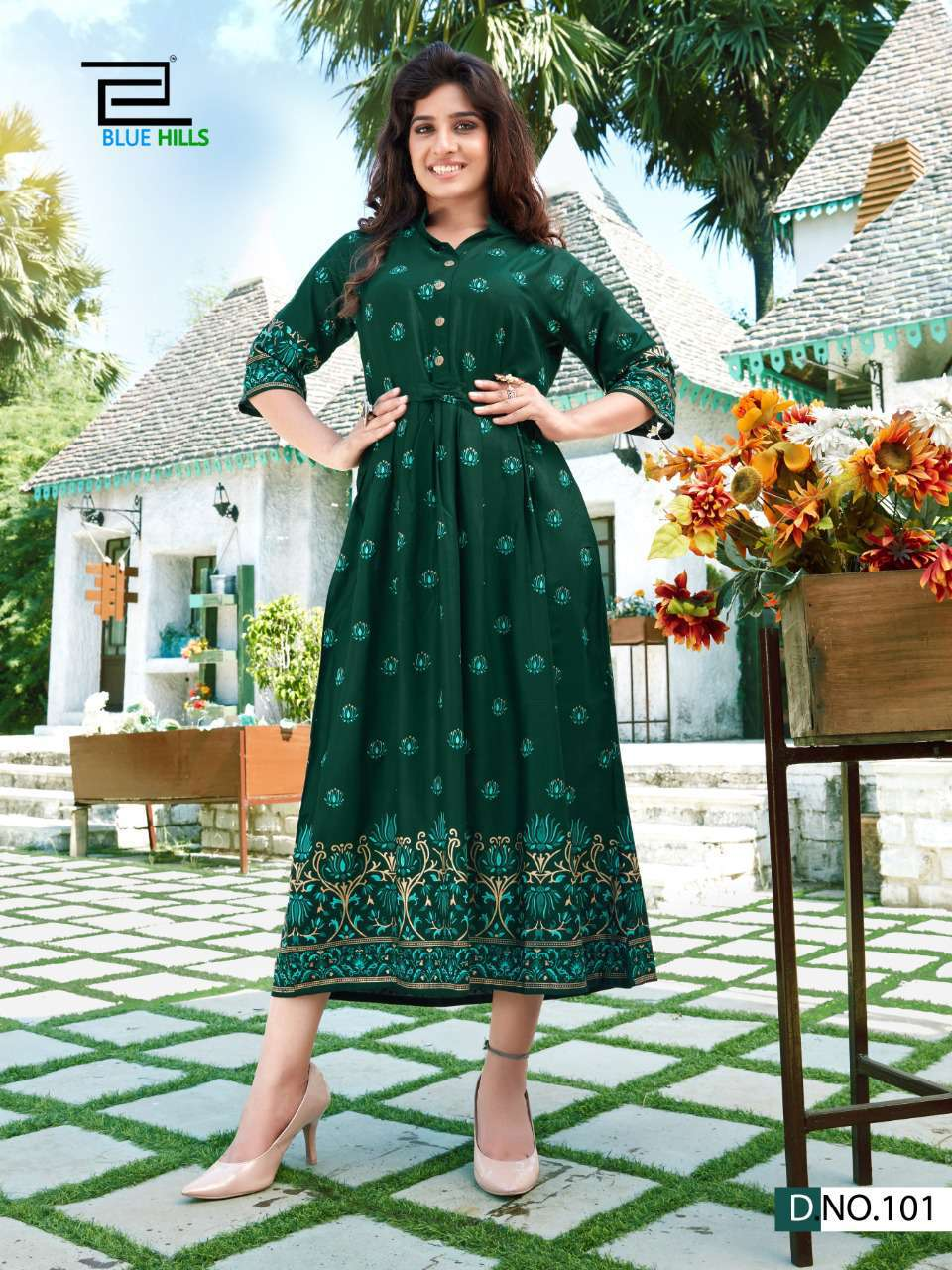 Blue Hills V Desi Kurti Wholesale Catalog 6 Pcs 3 - Blue Hills V Desi Kurti Wholesale Catalog 6 Pcs