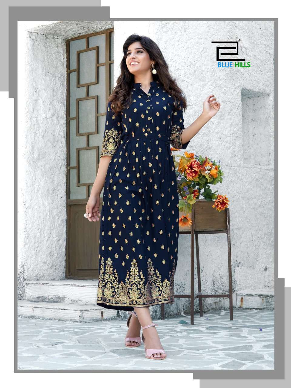 Blue Hills V Desi Kurti Wholesale Catalog 6 Pcs 4 - Blue Hills V Desi Kurti Wholesale Catalog 6 Pcs