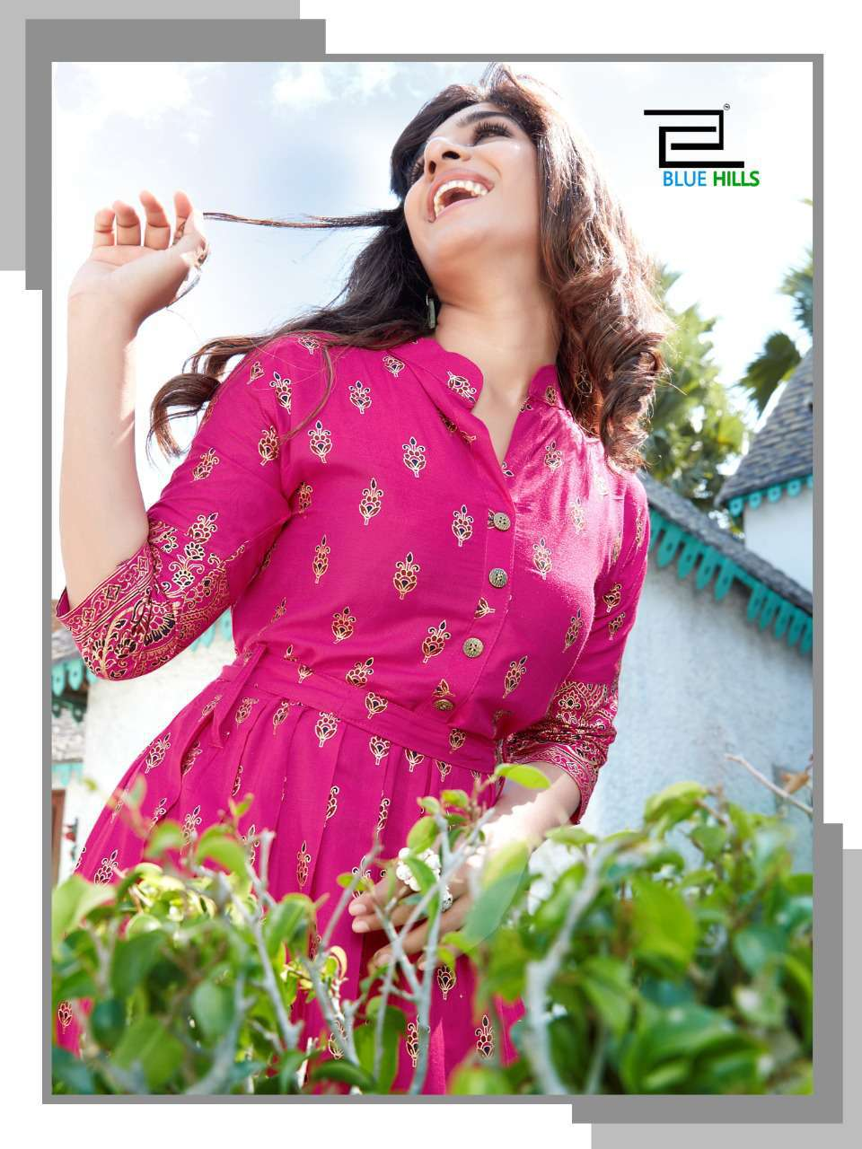 Blue Hills V Desi Kurti Wholesale Catalog 6 Pcs 6 - Blue Hills V Desi Kurti Wholesale Catalog 6 Pcs