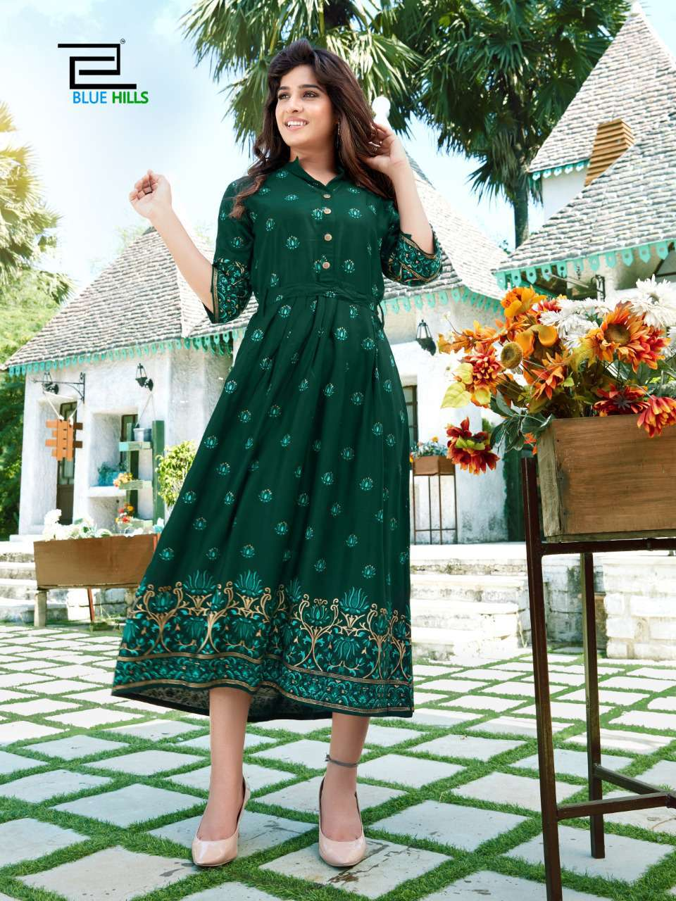 Blue Hills V Desi Kurti Wholesale Catalog 6 Pcs 7 - Blue Hills V Desi Kurti Wholesale Catalog 6 Pcs